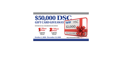 DSC $50,000 Gift Card Giveaway